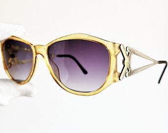 2a221fd0c9 PALOMA PICASSO vintage Sunglasses rare pentagon Migos Rihanna 2Chainz frame  mask 3726 square hexagon supreme yellow gold new purple lens 90s