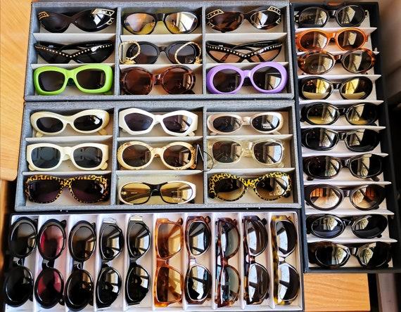 VERSACE vintage Sunglasses oval rare small tiny w… - image 8