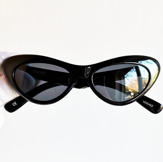 VERSACE vintage sunglasses rare cat eye wrap wing… - image 1