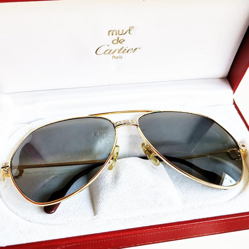 4a9167a2b9563 CARTIER VENDOME Santos GOLD filled plated Sunglasses vintage