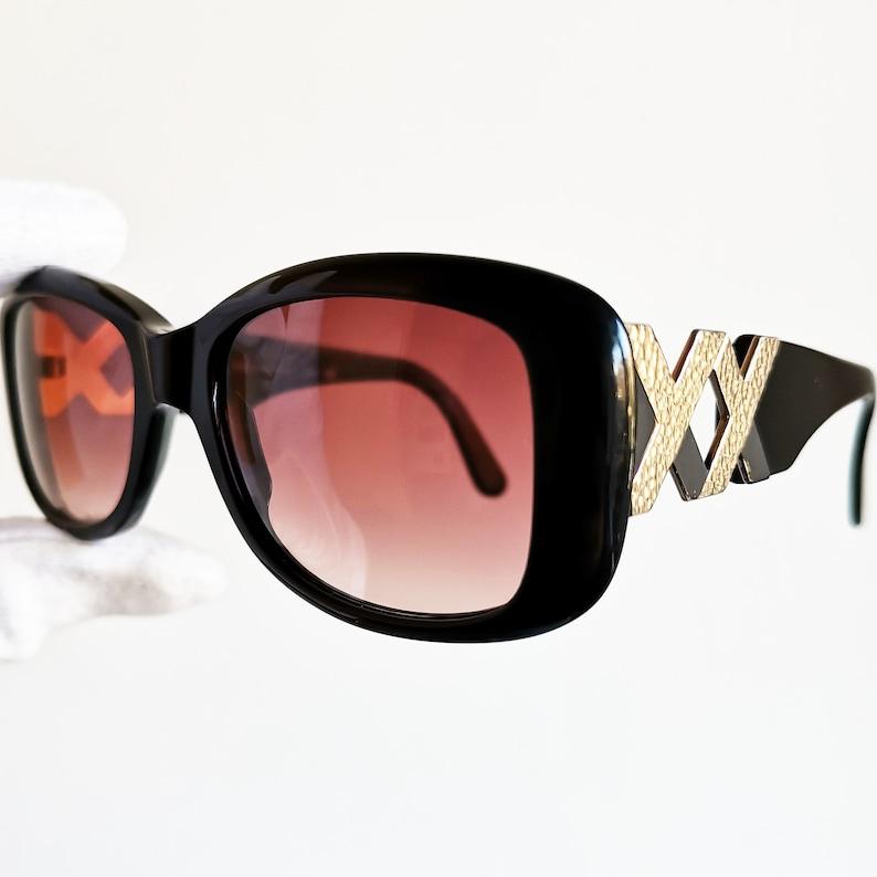 bd11ec63c26 YVES SAINT LAURENT vintage sunglasses Ysl rare black gold