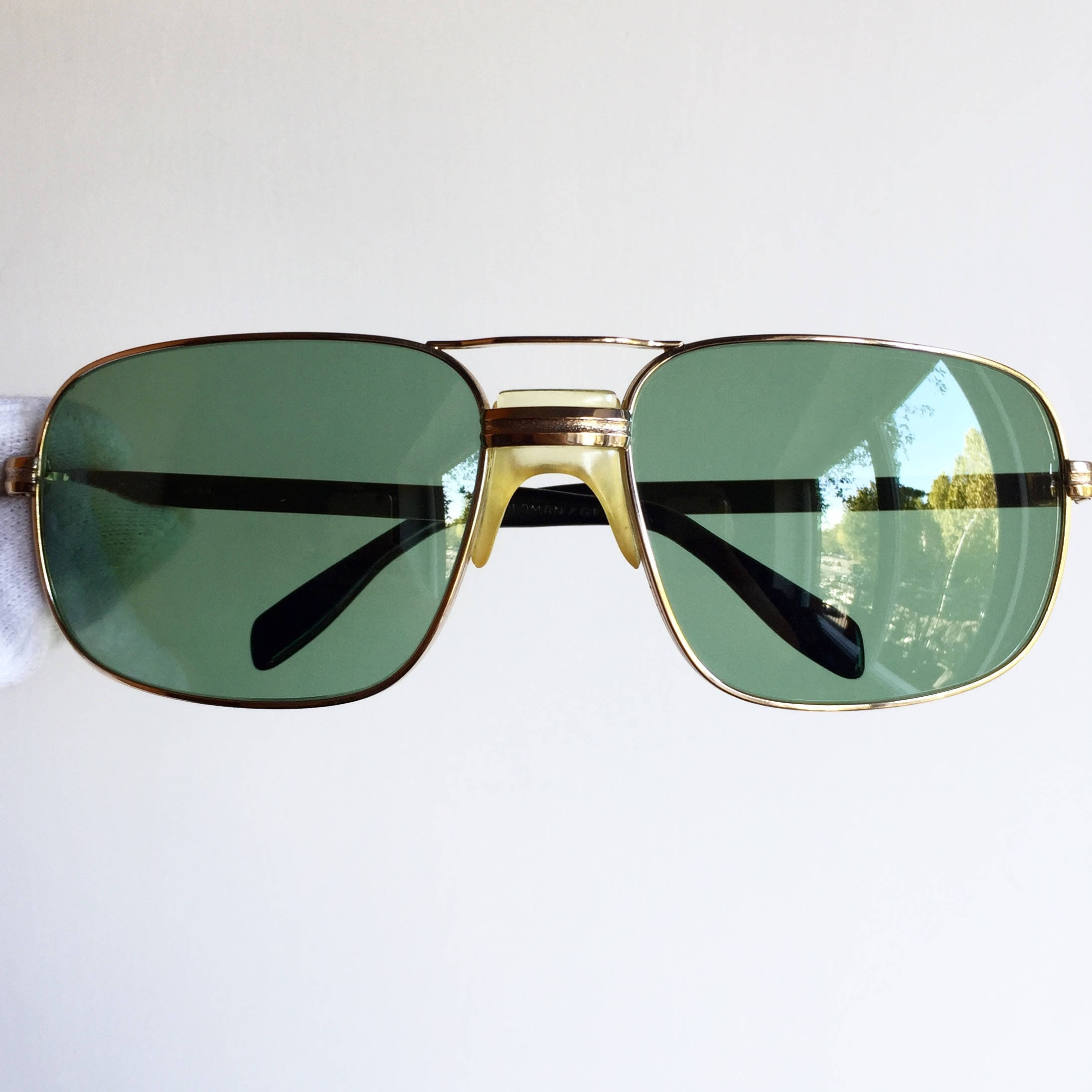 51ab244d6a SAFILO GOLD Sunglasses vintage aviator rare plated filled made