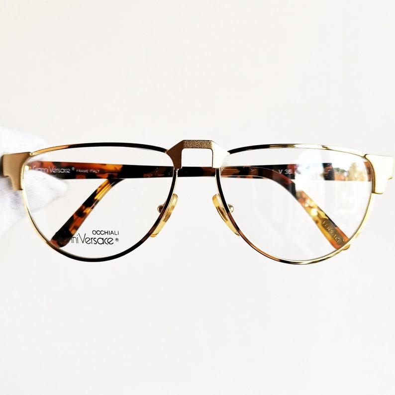 e654ad3b91af VERSACE vintage Eyewear rare eyeglasses gold oval Gianni | Etsy