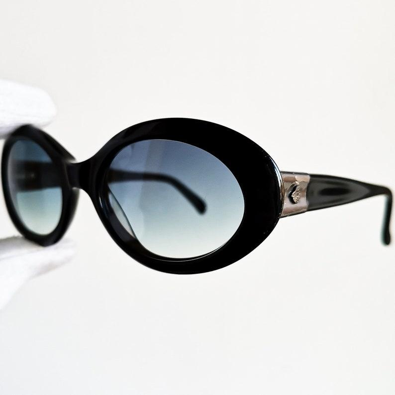 fb3daea6ad Black Kurt COBAIN vintage Sunglasses oval mask rare Egon VON