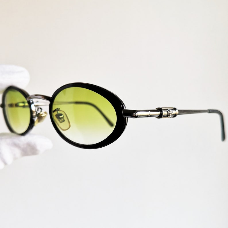 064bb1e51ca VERSACE vintage sunglasses rare oval black medusa genuine