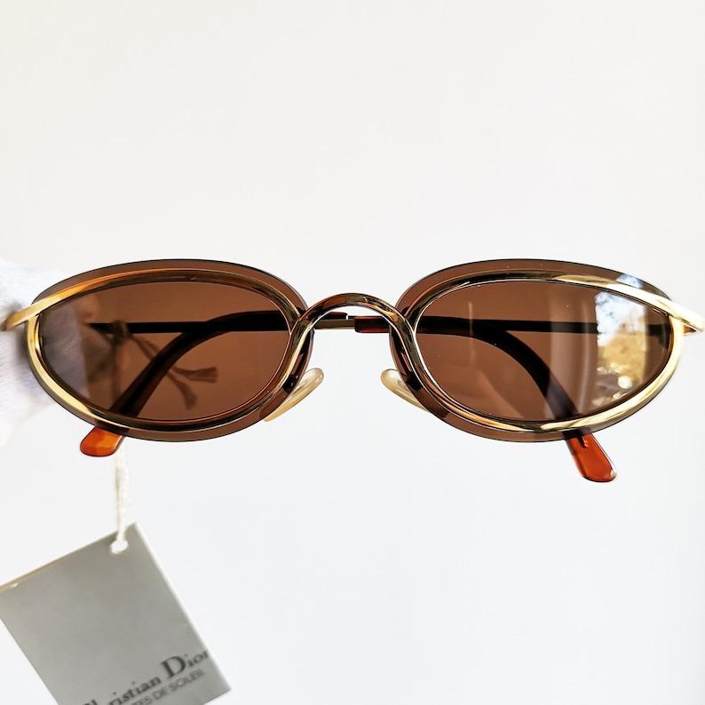 5e333787fb0 DIOR vintage Sunglasses rare oval Gold plated small tortoise