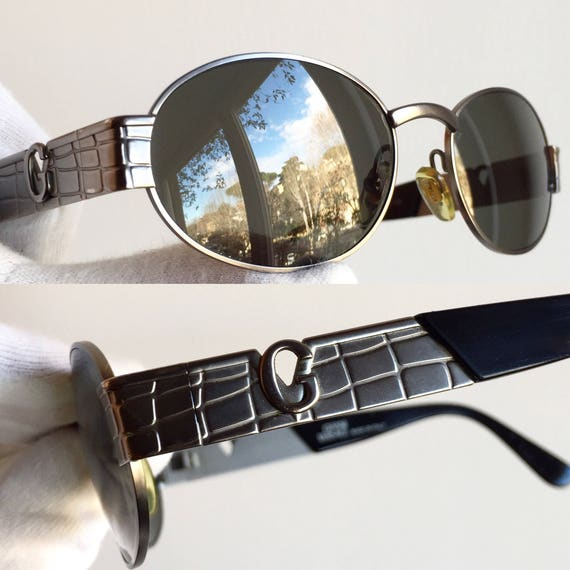 de vintage S22 crocodile ovale soleil rare VERSACE lunettes Etsy 6zaEEq