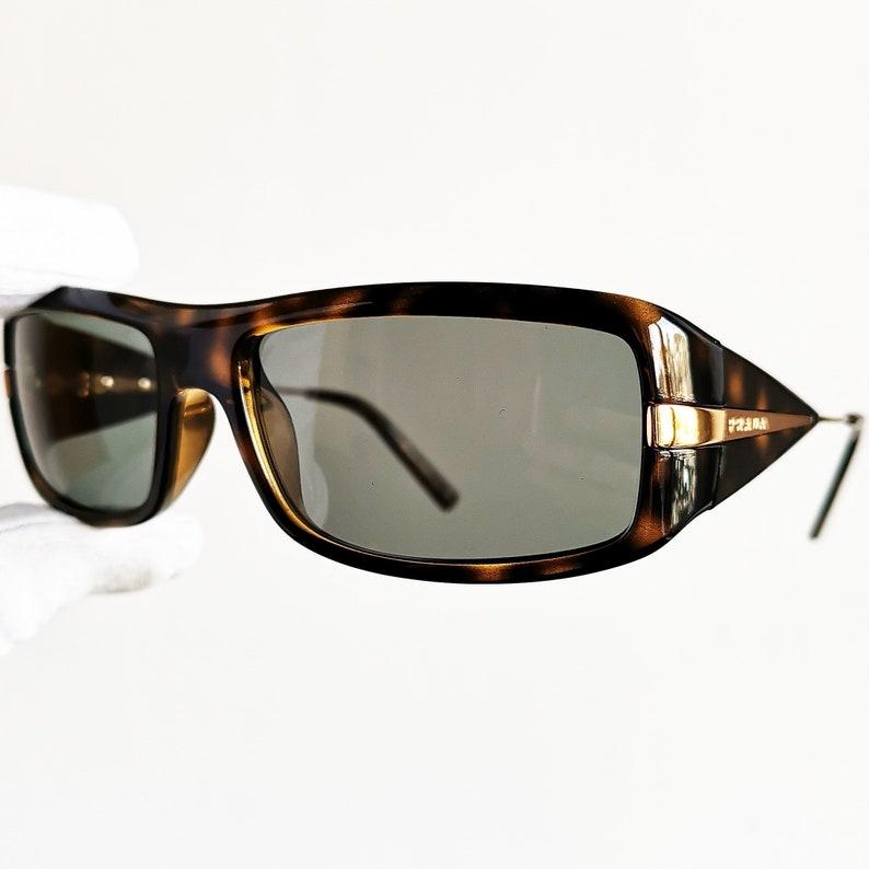 cbbfc43f6bab PRADA vintage sunglasses rare rectangular squared SPR08I wrap | Etsy