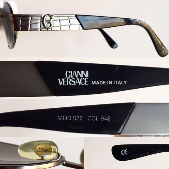 de vintage crocodile soleil Etsy lunettes S22 VERSACE rare ovale vqgnfwfd