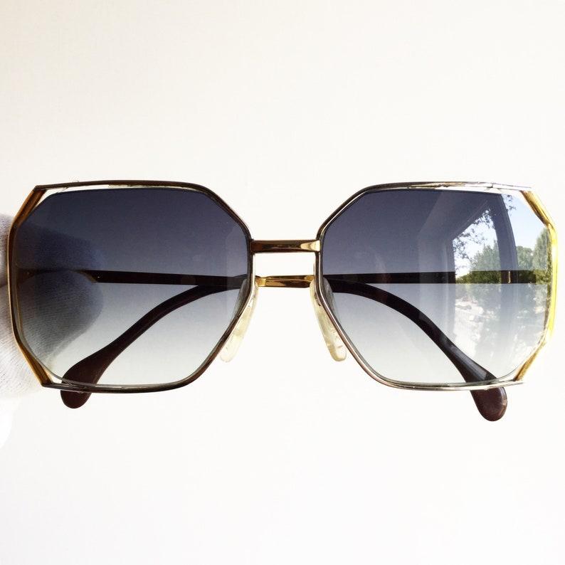 3af40b00726 CARL ZEISS vintage sunglasses rare square mask 22 CARAT gold