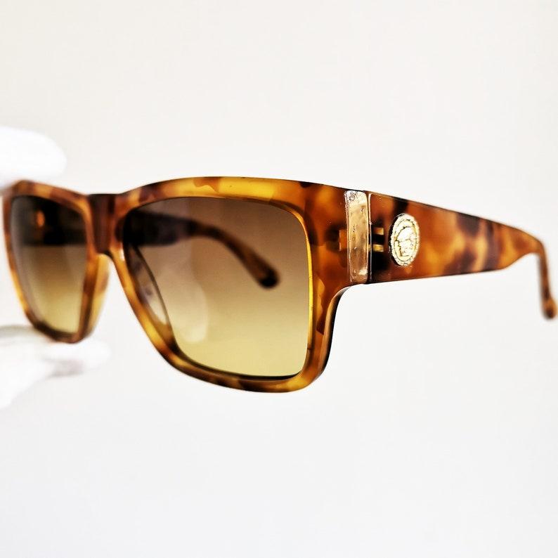 435f1ff303819 VERSACE vintage sunglasses rare square wrap mask shield flat
