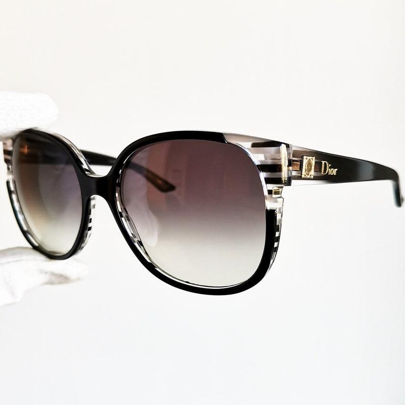 12e241eb8dc5 DIOR vintage Sunglasses rare oversize round wrap cat eye mask