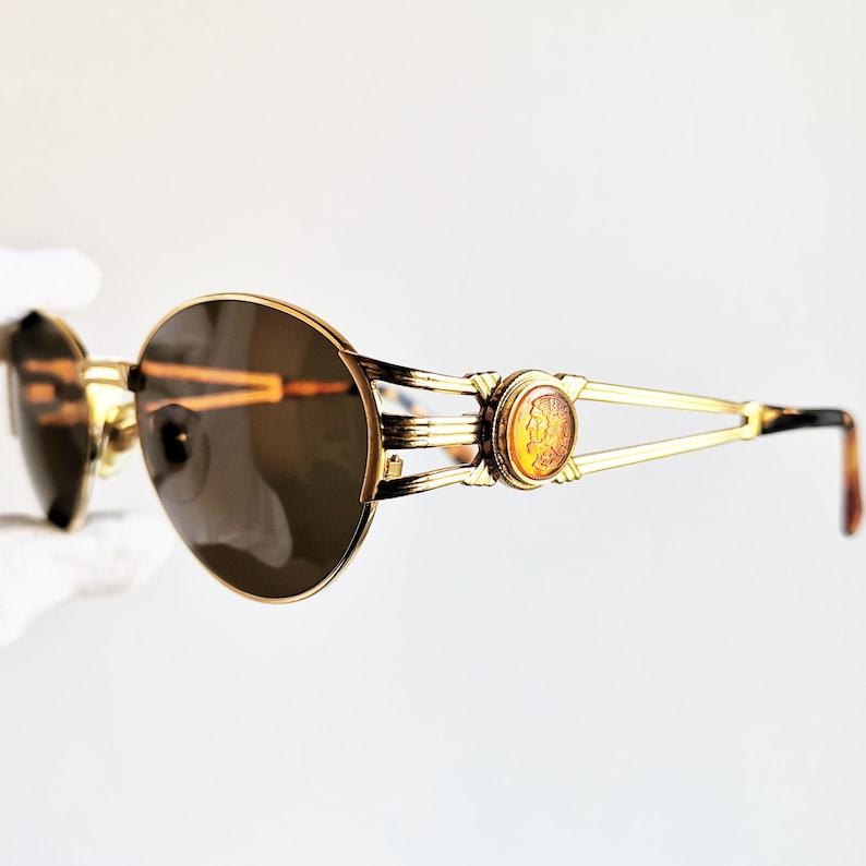 39c24705aa5 FENDI vintage SUNGLASSES rare oval gold rim tortoise brown