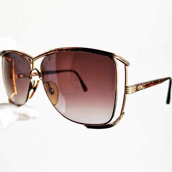2bff5efbd51fe DIOR vintage sunglasses rare oversize square big gold wrap Christian 2688  lunettes diva oval mask shield supreme icon tortoise new lenses