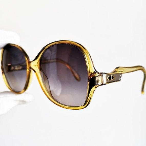 bcb87588dab5 DIOR vintage Sunglasses rare yellow gold round mask oversize | Etsy