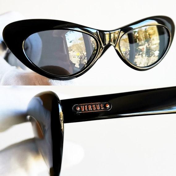 VERSACE vintage sunglasses rare cat eye wrap wing… - image 3