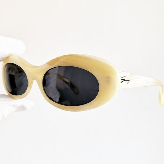 VERSACE vintage Sunglasses oval rare small tiny w… - image 2