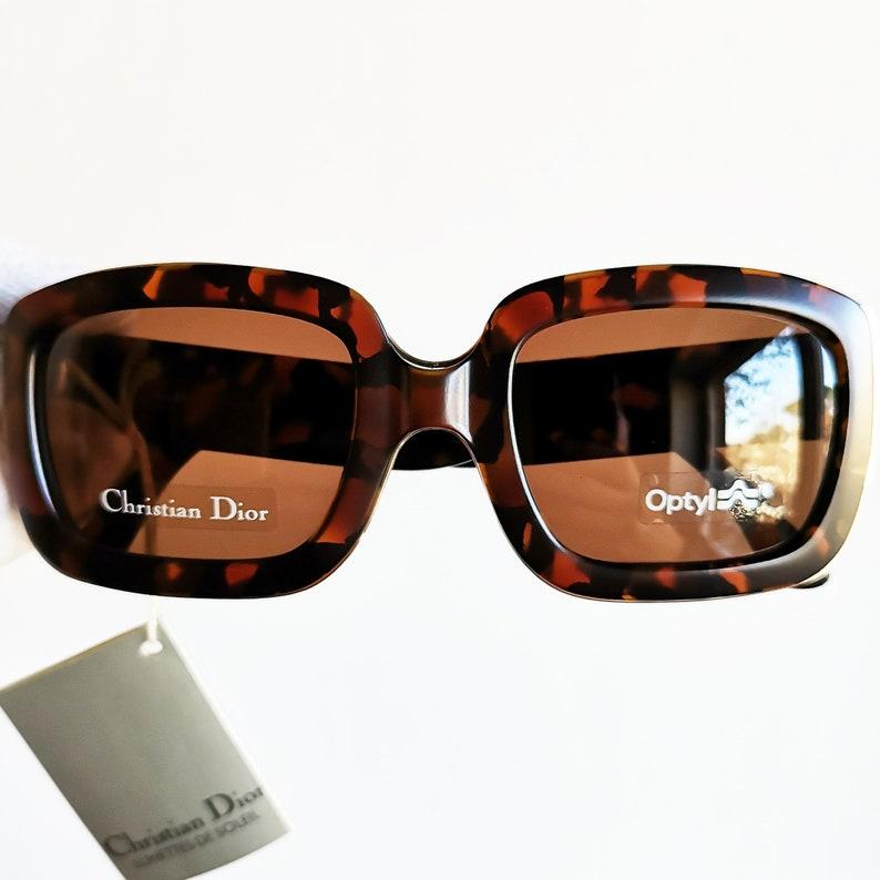 9a04341b5e DIOR vintage sunglasses rare square tortoise gold mask wrap
