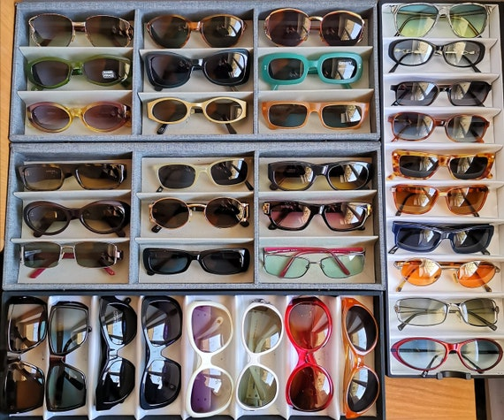 VERSACE vintage sunglasses rare cat eye wrap wing… - image 10
