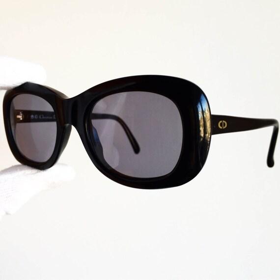 bf26a3843885 DIOR vintage SUNGLASSES rare black supreme spectacle round