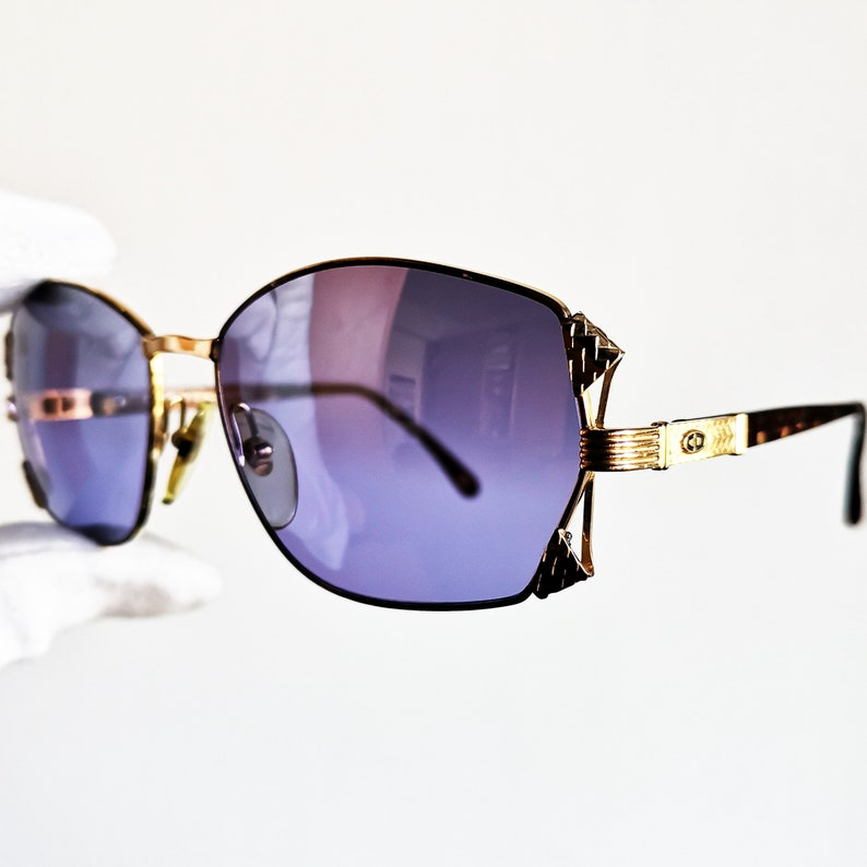 a9d28cd005b DIOR vintage sunglasses rare gold rim band oval squared