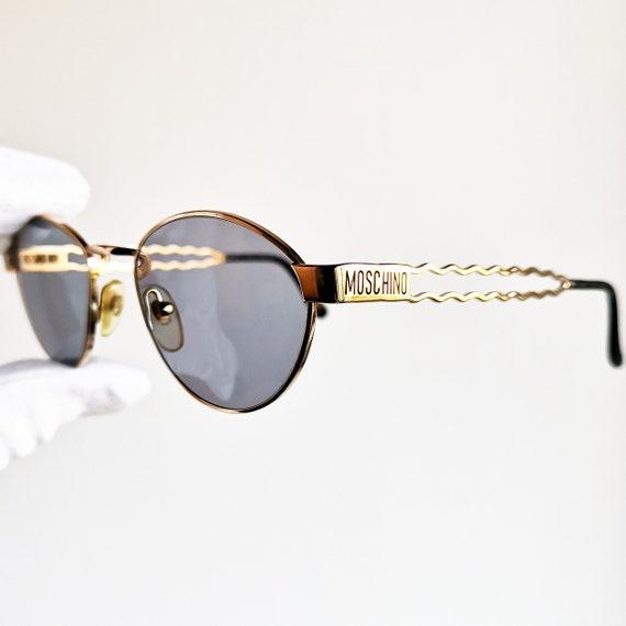 MOSCHINO par PERSOL vintage lunettes de soleil rare cadre doré   Etsy 4d7d112077fe