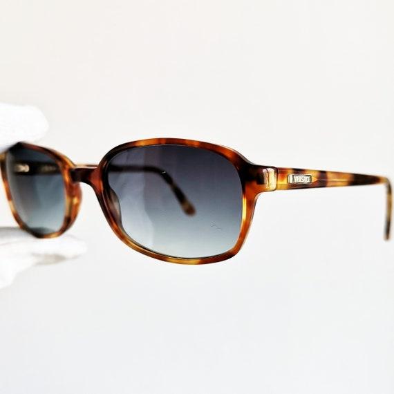 0c65fcc7d9 VERSACE vintage sunglasses rare rectangular square oval brown