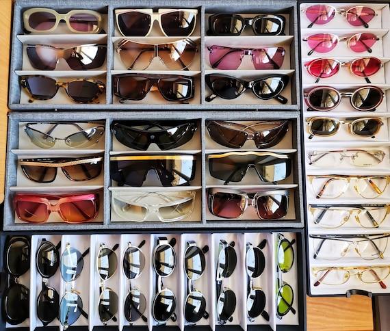 VERSACE vintage sunglasses rare cat eye wrap wing… - image 9