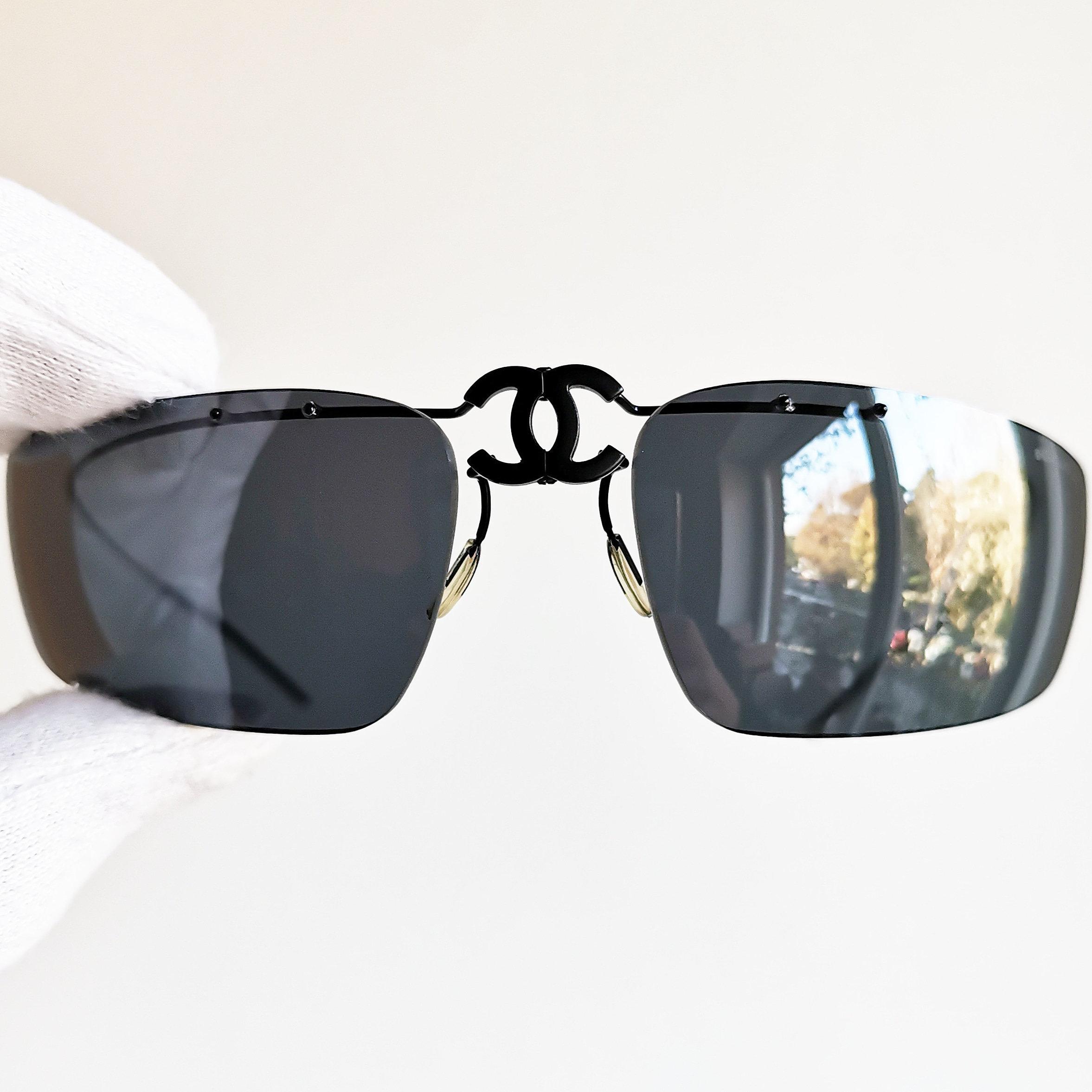 8abf4649cf7a Chanel sunglasses vintage rare oval rectangular wrap folding etsy jpg  2354x2354 Old chanel sunglasses