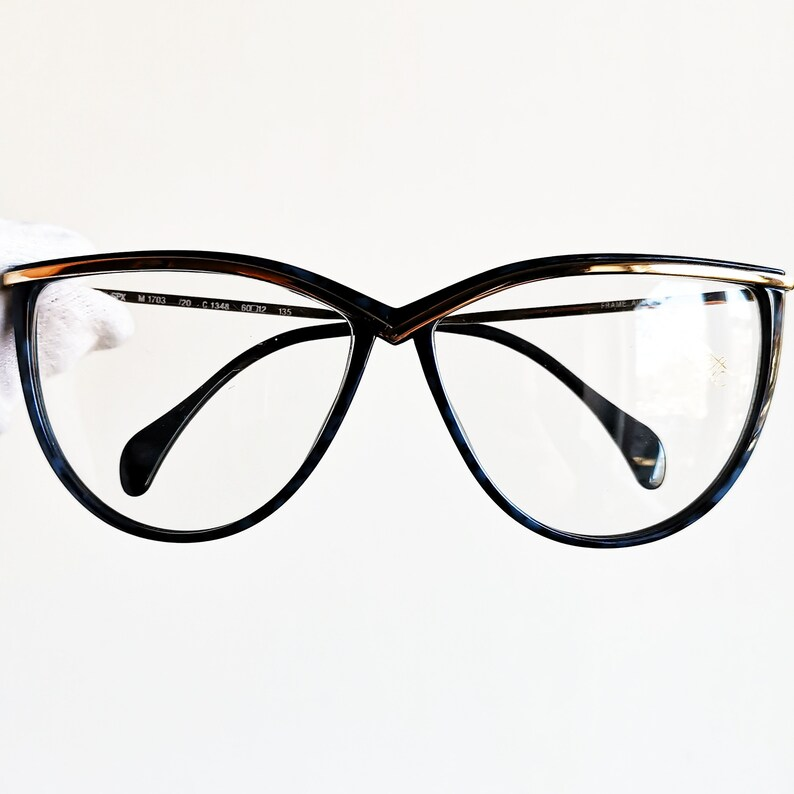 ab1a239cd11 SILHOUETTE vintage eyeglasses rare eyewear oversize big blue