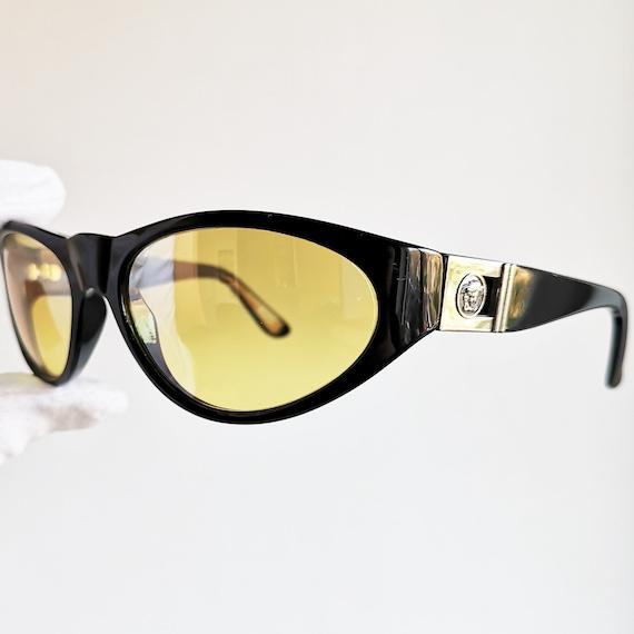 b5187fc44c41cc VERSACE vintage lunettes de soleil masque ovale rare nouvelle   Etsy