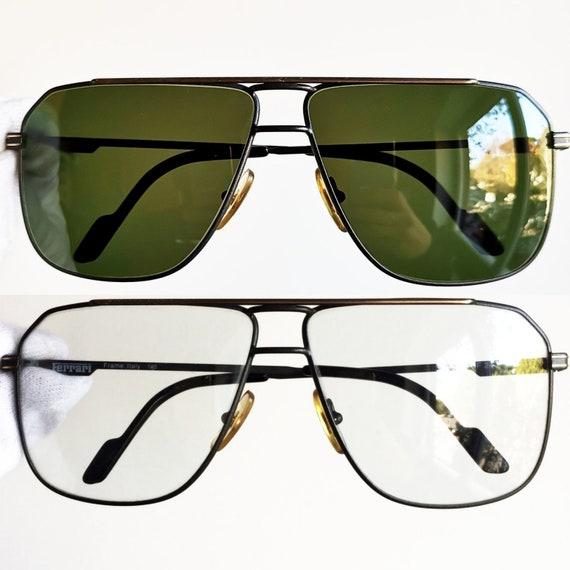 06f7567c7d51bb FERRARI vintage sunglasses rare square drop shaped aviator   Etsy