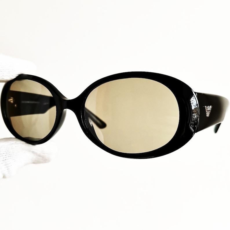 577387e8899 Kurt Cobain SUNGLASSES vintage rare ARMANI Black oval clout