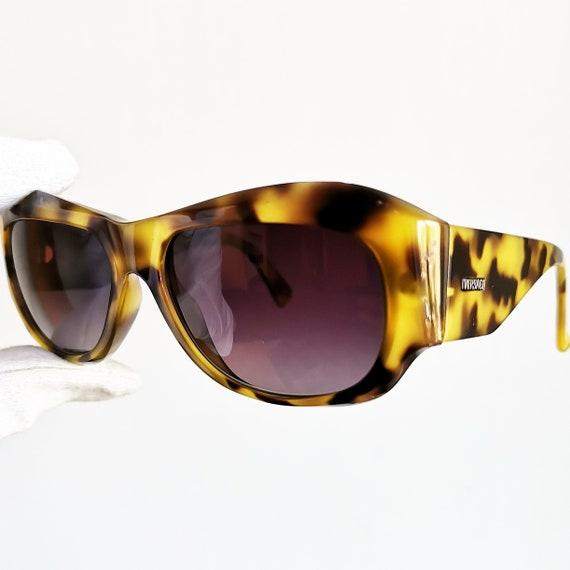 c73da70872 VERSACE vintage sunglasses rare oval square wrap wraparound