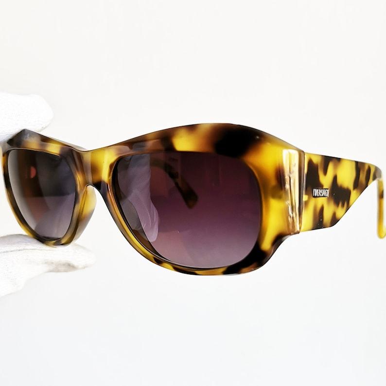 edaf85e25609e VERSACE vintage sunglasses rare oval square wrap wraparound
