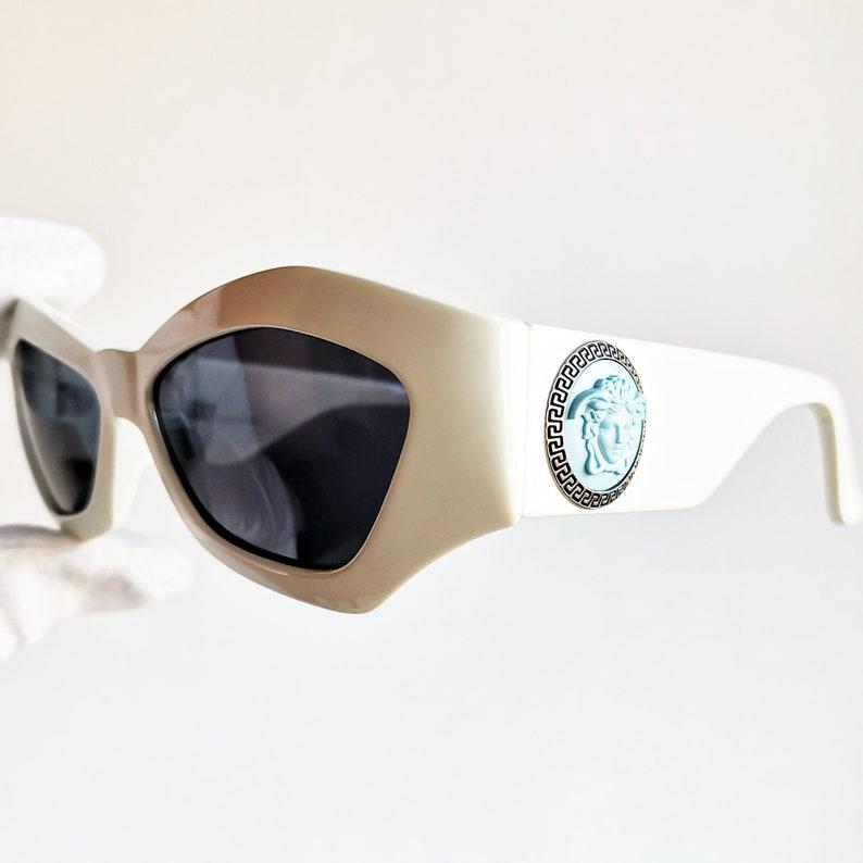 8d4f6681e5f71 VERSACE vintage sunglasses rare off white square wrap mask
