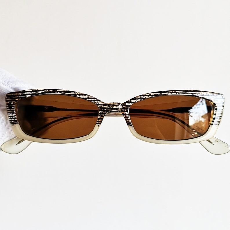 3e07651d439 MOSCHINO oval SUNGLASSES vintage small rare rectangular love