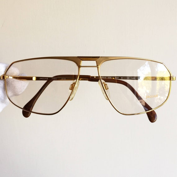 2f431fcebb JAGUAR GOLD eyewear vintage eyeglasses rare filled plated