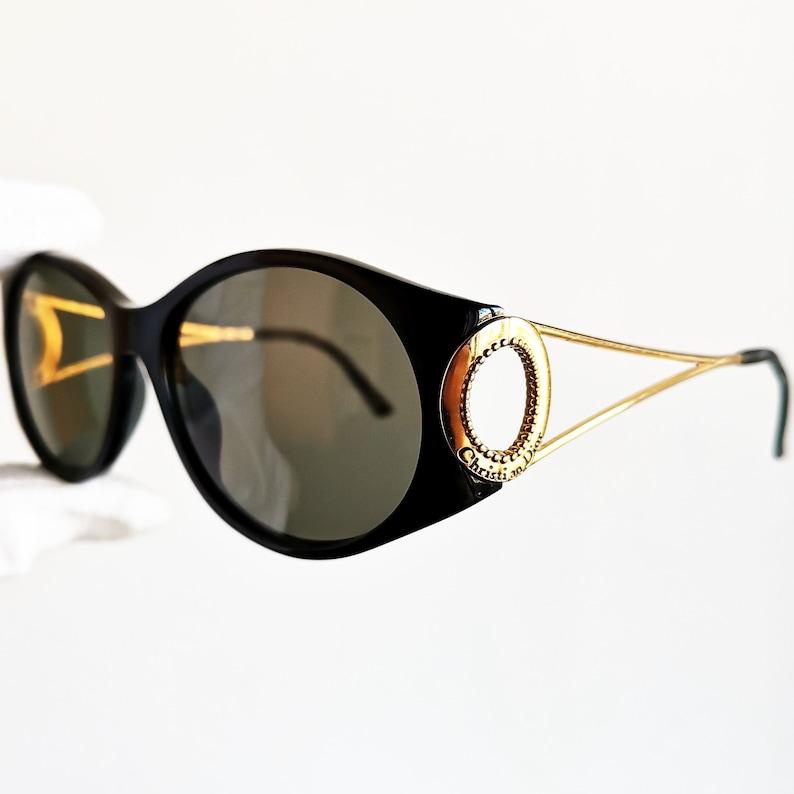 83c0a6e49b35 DIOR vintage Sunglasses rare oval round oversize big new flat