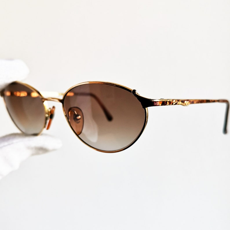 9427e5c540 VERSACE vintage Sunglasses rare oval Gianni by GENNY engraved