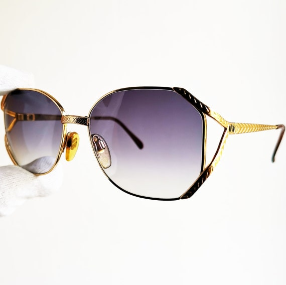 VALENTINO vintage sunglasses rare gold square avia