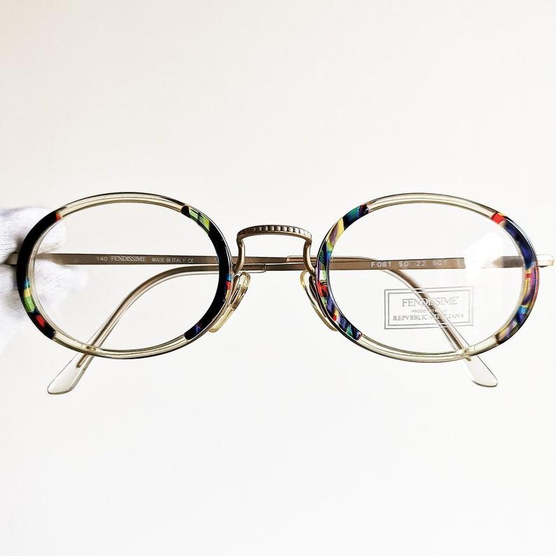 4360fbebaf FENDI vintage Eyewear rare Eyeglasses gold oval Sunglasses