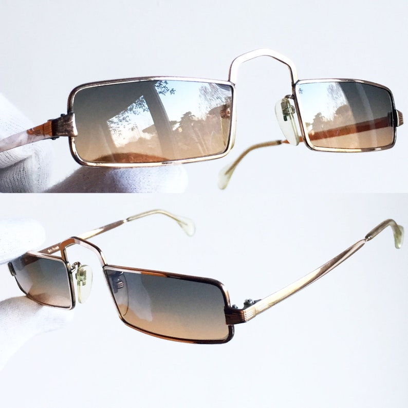 6cc5d4fad6 GOLD small VINTAGE Sunglasses rare Rihanna style Jewel 20 000
