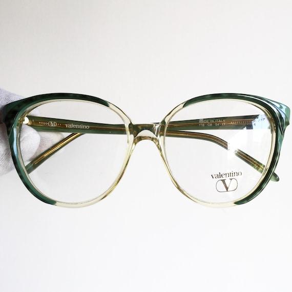 8def266972 VALENTINO vintage eyewear rare eyeglasses green round oval