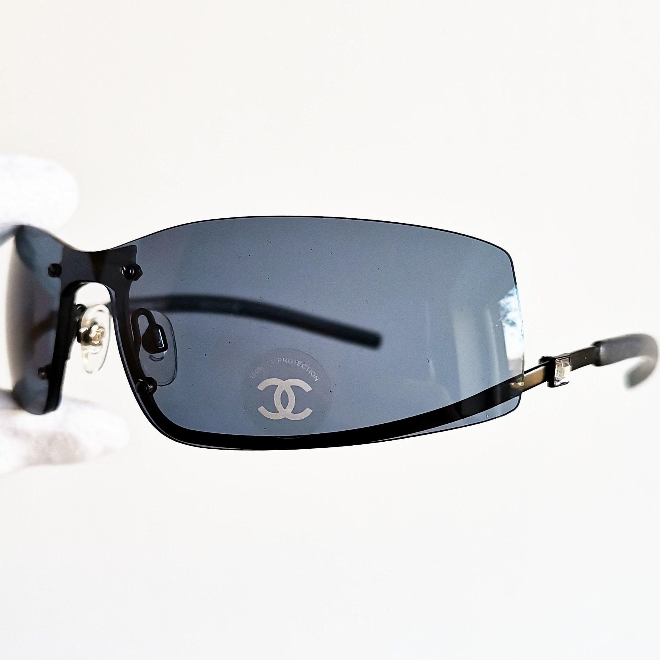 b2eb1402d06c8f CHANEL sunglasses vintage rare oval wrap wraparound mask | Etsy