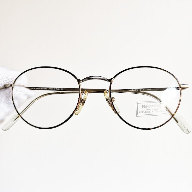 550a228637 FENDI vintage Eyewear rare Eyeglasses gold round oval
