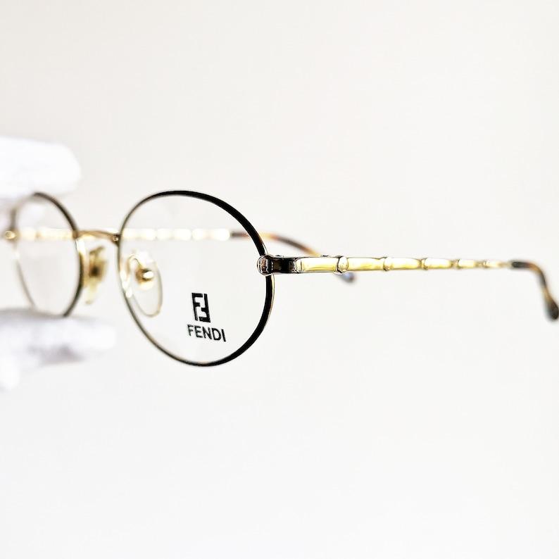 63c3d2cd86 FENDI gold oval Eyewear vintage Eyeglasses rare tortoise brown