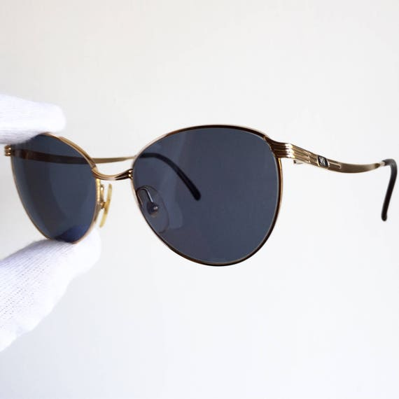 CELINE oval SUNGLASSES vintage rare cateye round gold old | Etsy