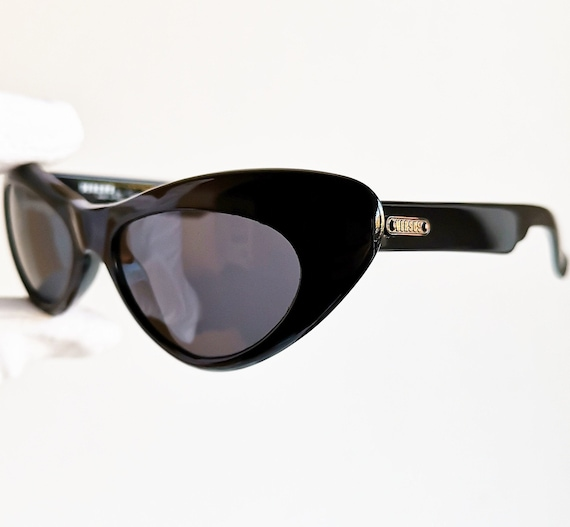 VERSACE vintage sunglasses rare cat eye wrap wing… - image 2