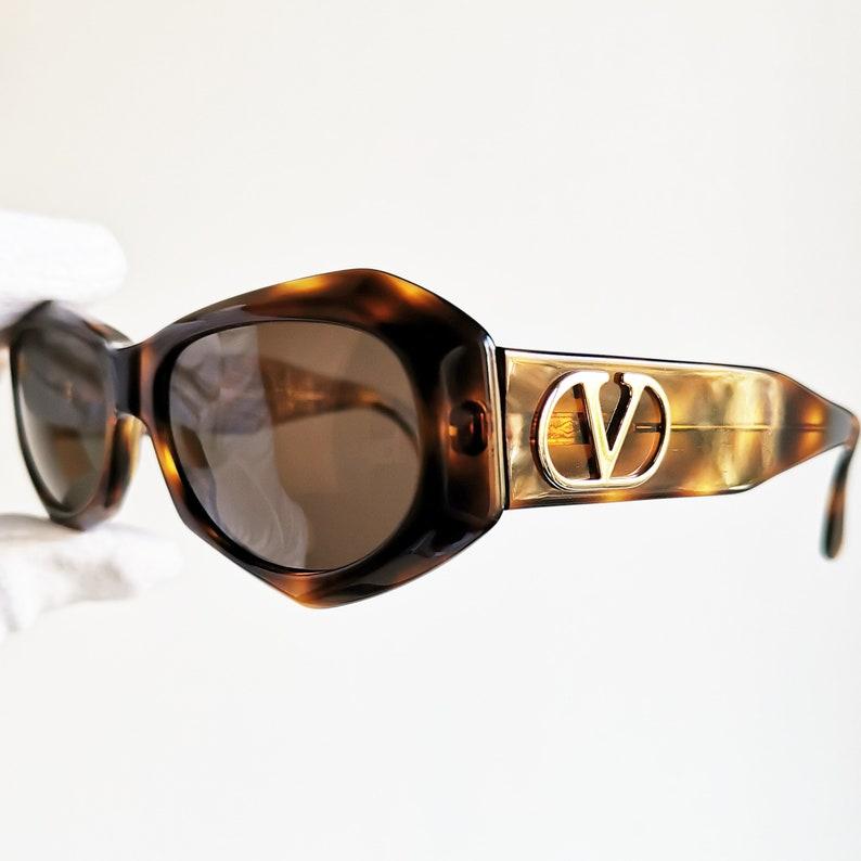 3796de5b7c VALENTINO vintage sunglasses rare squared wrap mask V662 frame